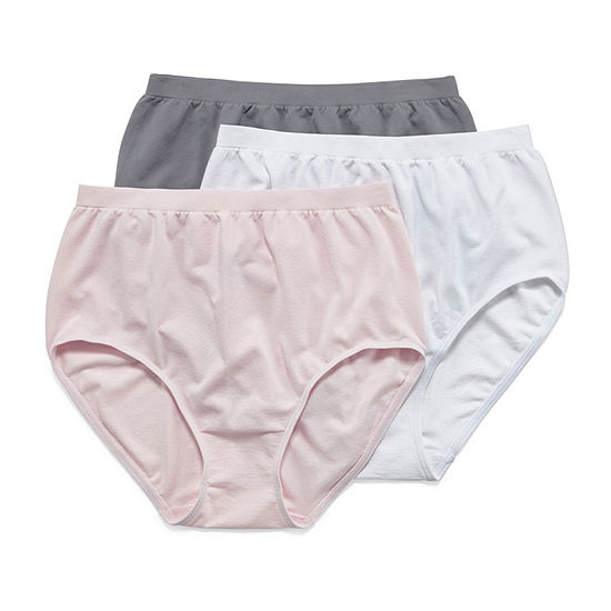Jockey Comfies® 3 Pair Microfiber Brief Panty 3328