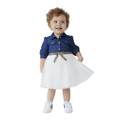 Bonnie Jean Baby Girls Elbow Sleeve A-Line Dress