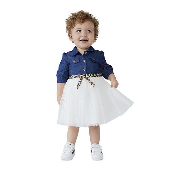 Bonnie Jean Baby Girls Elbow Sleeve A-Line Dress