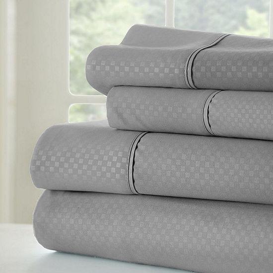 Casual Comfort™ Premium Ultra Soft Checkered Microfiber Wrinkle Free Sheet Set