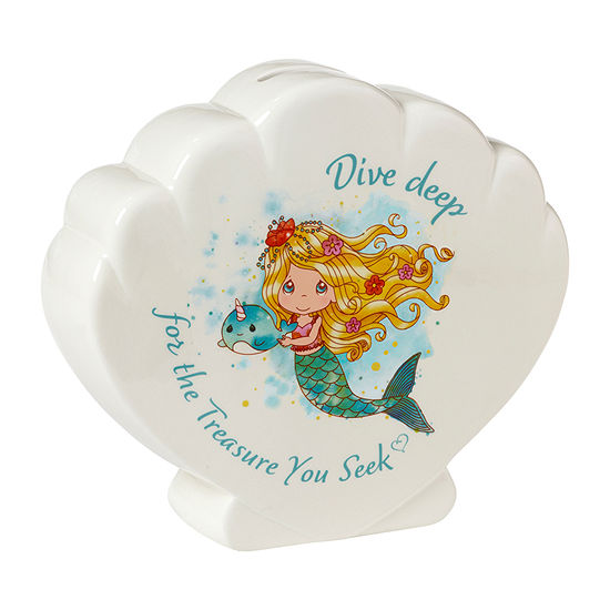 Precious Moments Mermaid Shell Bank - Girls