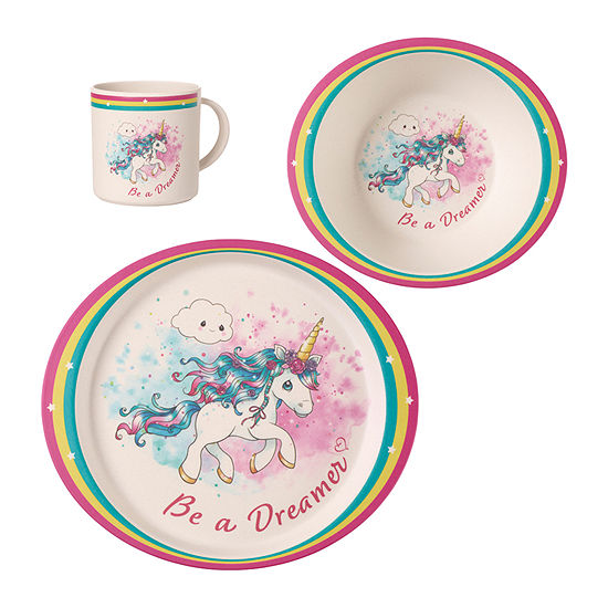 Precious Moments Unicorn Mealtime Set 3-pc. Baby Milestones - Girls