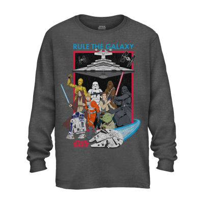 Kids Crew Sweat Star Wars Official Boys Clothing Grey Printed Sweatshirt