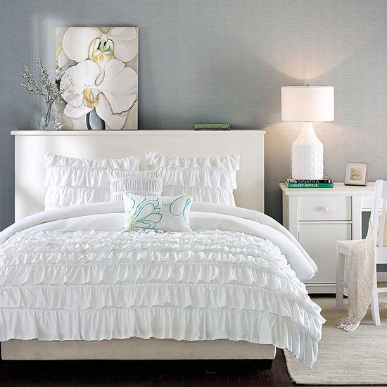 Intelligent Design Demi Ruffled Comforter Set