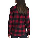 Dickies-Plus Womens Long Sleeve Button-Down Shirt