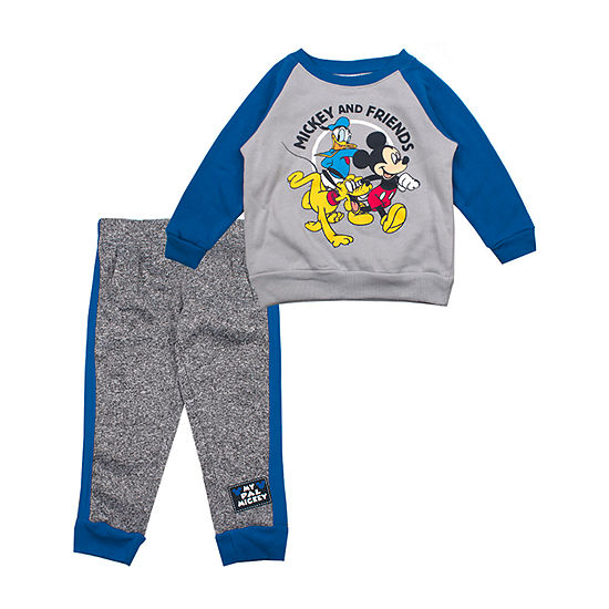 Disney Boys Mickey Mouse 2-pc. Pant Set Toddler