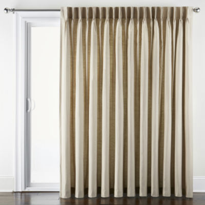 JCPenney Home Supreme Energy Saving Light-Filtering Pinch-Pleat Patio Door Curtain