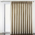 JCPenney Home Supreme Thermal Energy Saving Light-Filtering Pinch-Pleat Single Patio Door Curtain
