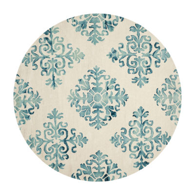 Safavieh Dip Dye Collection Durward Floral Round Area Rug