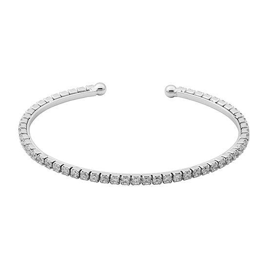 Sparkle Allure Womens 3 1/4 CT. T.W. Cubic Zirconia Cuff Bracelet Bronze Stainless Steel