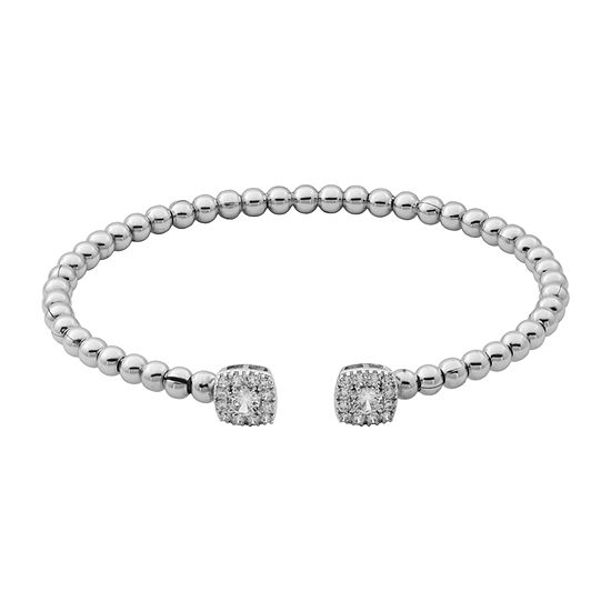 Sparkle Allure Womens 7 8 Ct Tw Cubic Zirconia Cuff Bracelet Bronze Stainless Steel