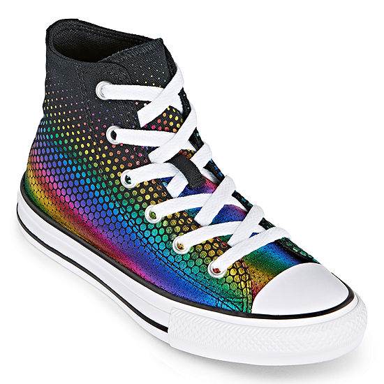 Converse Converse Chuck Taylor All Star Hi Top Rainbow Foil Little Kids Girls Sneakers