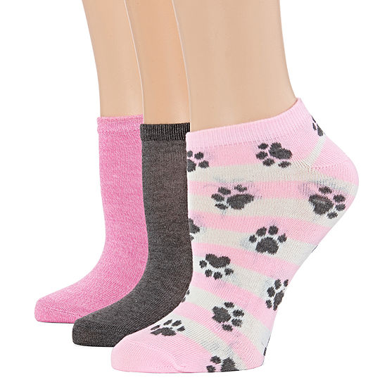 3 Pack Sole Sayings Low Cut Socks - Womens