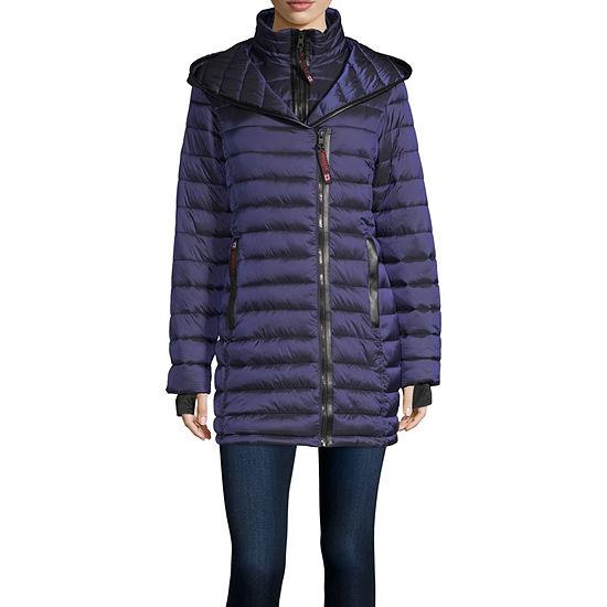 Canada Weather Gear Hooded Lightweight Puffer Jacket