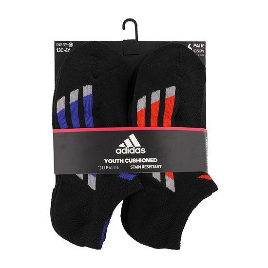 adidas Boys 6 Pair No Show Socks-Big Kid