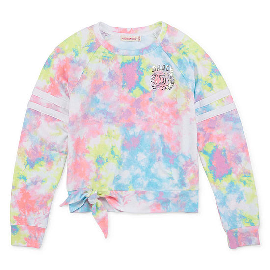 Inspired Hearts Girls Round Neck Long Sleeve Sweatshirt Preschool / Big Kid