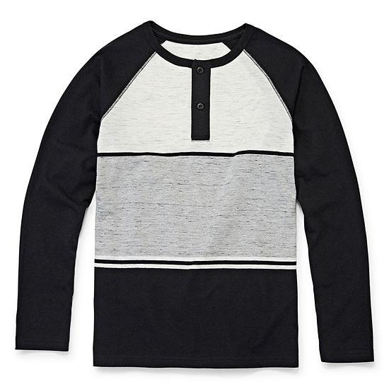 Arizona Little & Big Boys Long Sleeve T-Shirt