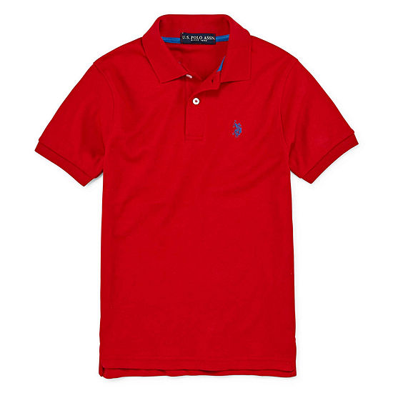 Us Polo Assn. Big Boys Short Sleeve Embroidered Polo Shirt