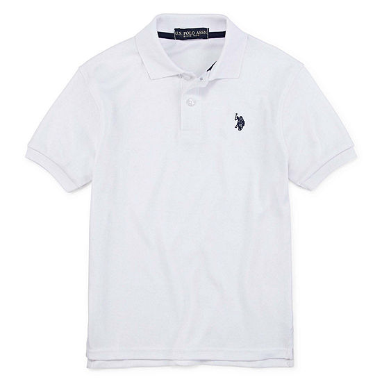 Us Polo Assn. Boys Short Sleeve Embroidered Polo Shirt - Big Kid