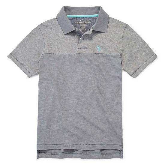 Us Polo Assn. Boys Short Sleeve Embroidered Polo Shirt - Big Kid
