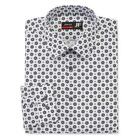 Mens Vintage Shirts – Retro Shirts JF J.Ferrar Mens Point Collar Long Sleeve Stretch Dress Shirt - Slim 17-17.5 34-35 Black $19.99 AT vintagedancer.com