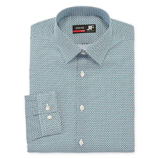 JF J.Ferrar Mens Easy-Care Stretch Long Sleeve Dress Shirt