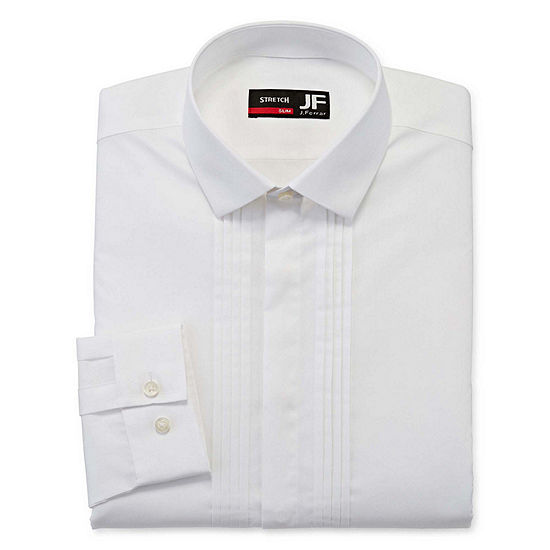 JF J.Ferrar Mens Point Collar Long Sleeve Stretch Dress Shirt