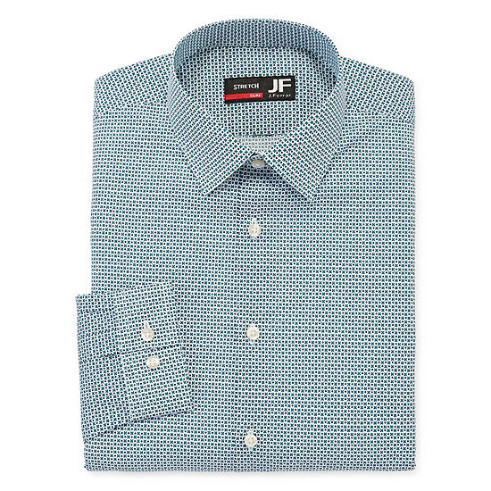 JF J.Ferrar Mens Easy-Care Stretch Long Sleeve Dress Shirt