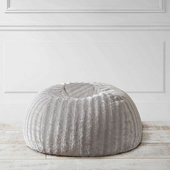 Madison Park Duke Faux Fur Shaggy Bean Bag