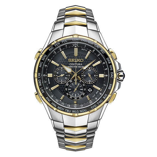 Seiko Mens Chronograph Two Tone Stainless Steel Bracelet Watch-Ssg010