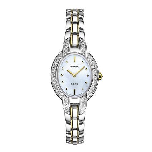 Seiko Womens Two Tone Bracelet Watch-Sup325