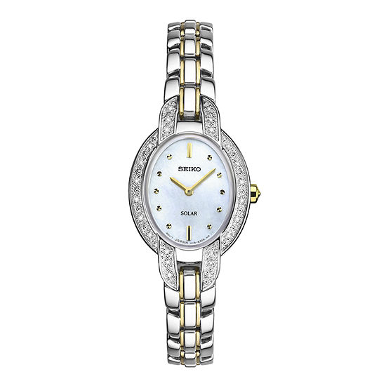 Seiko Womens Two Tone Stainless Steel Bracelet Watch-Sup325