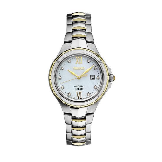 Seiko Womens Two Tone Bracelet Watch-Sut308