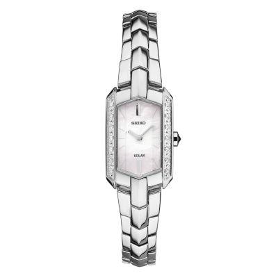 Seiko Womens Silver Tone Bracelet Watch-Sup329