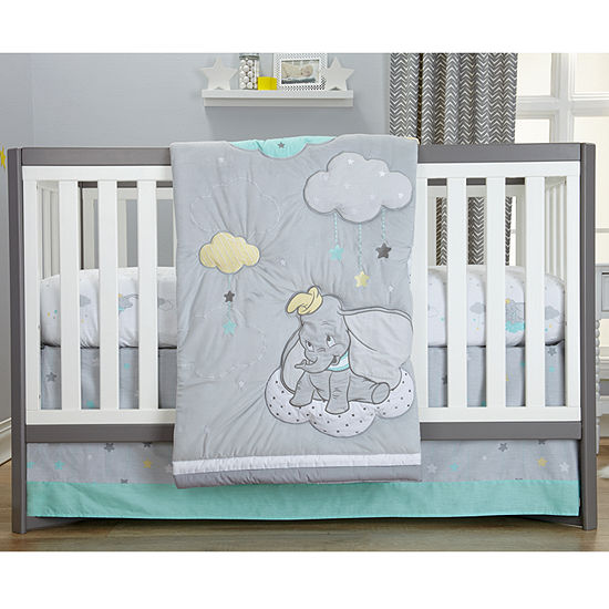 Crown Crafts 3-pc. Dumbo Crib Bedding Set