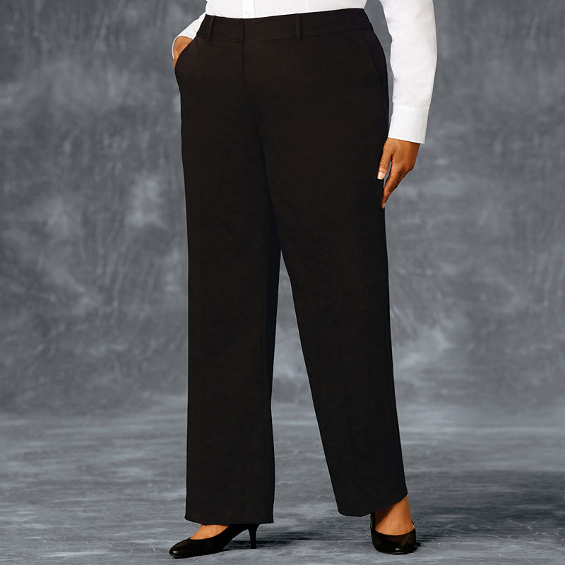 "Liz Claiborne Classic Sophie Secretly Slender"" Trouser Leg Pants - Plus plus size,  plus size fashion plus size appare"