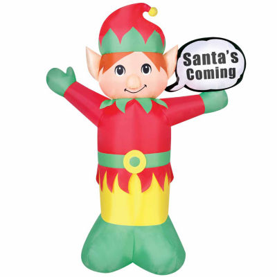 4ft Elf With Speech Bubble Outdoor Inflatable