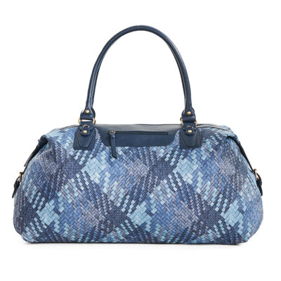 Bueno of California Denim Woven Crossbody Bag