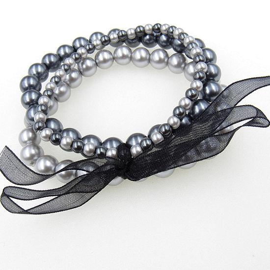Vieste Rosa 3-pc. Simulated Pearl Bracelet Set