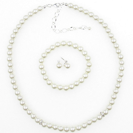 Vieste Rosa 3-pc. Simulated Pearl Round Jewelry Set