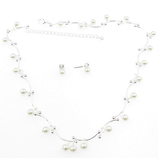 Vieste Rosa 2-pc. Simulated Pearl Round Jewelry Set
