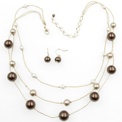 Womens 2-pack Brass Jewelry Set