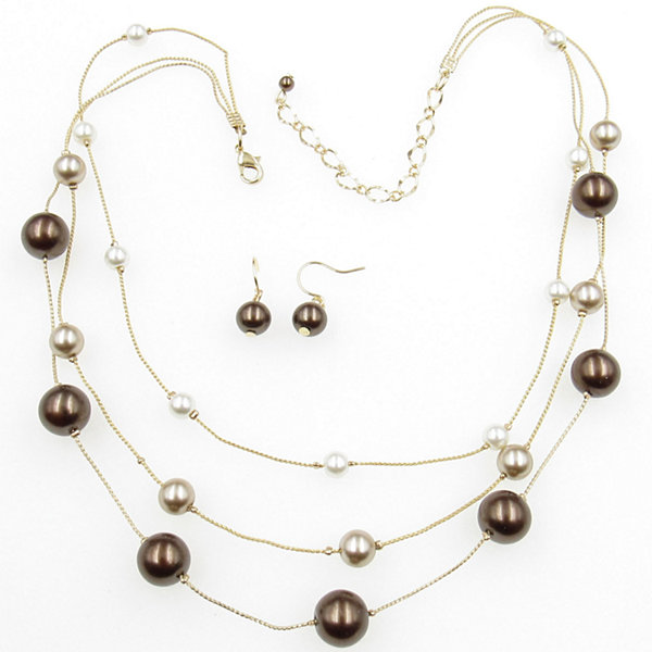 Womens 2-pc. Brass Jewelry Set
