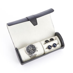 Luxurious Genuine Leather Watch Box
