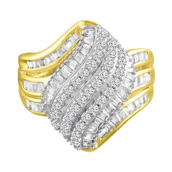 Fine Jewelry 1 CT. T.W. Diamond 10K Yellow Gold Cocktail Ring HeTlpDB1