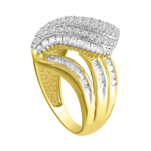 Fine Jewelry 1 CT. T.W. Diamond 10K Yellow Gold Cocktail Ring IgzZcHkSPU