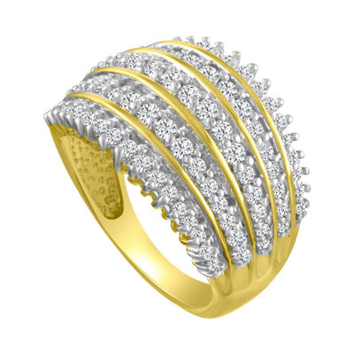Womens 1 CT. T.W. Genuine White Diamond 10K Gold Band