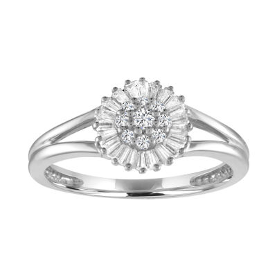 Womens 1/4 CT. T.W. Diamond 10K Gold Cocktail Ring