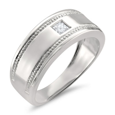 Mens 3.5mm 1/6 CT. T.W. Genuine White Diamond 14K Gold Band