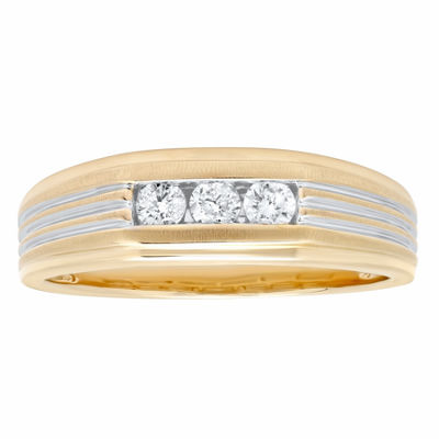 Mens 1/4 CT. T.W. Genuine White Diamond 10K Gold Band